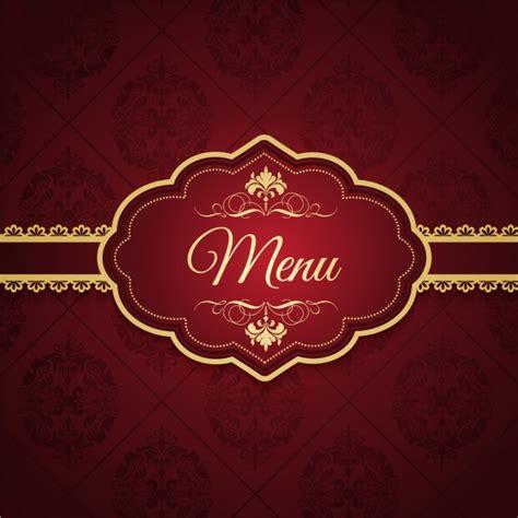 design background menu elegant menu design vector free download