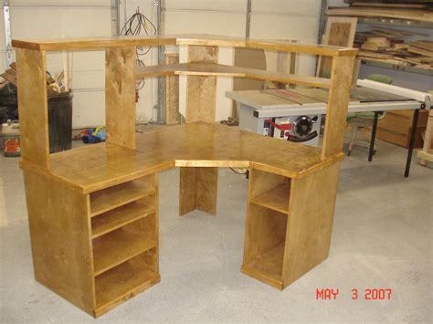 plywood corner desk corner computer desk by tim beyer lumberjocks