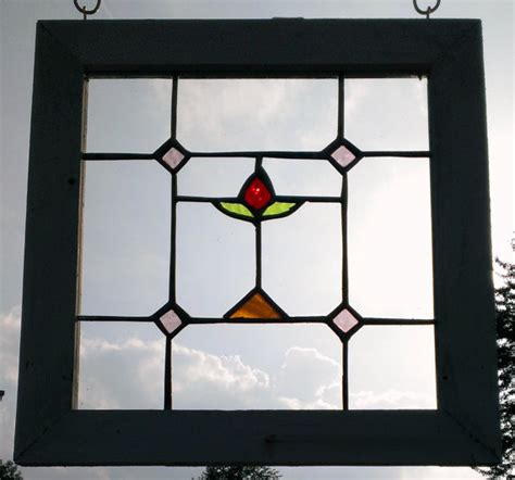 Handmade Stained Glass - handmade stained glass window panel wood frame by petersinc