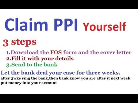 ppi claim template letter to bank claim form halifax ppi claim form