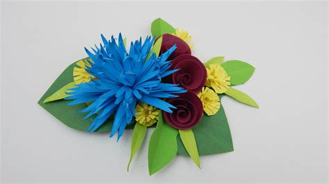Flower Papercraft - decoration quilling flowers diy papercraft flowers by