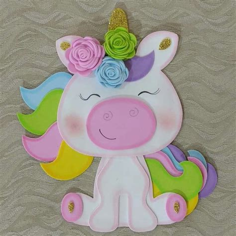 goma eva decoracion infantil hermoso pam89 pinterest eva goma eva y unicornio