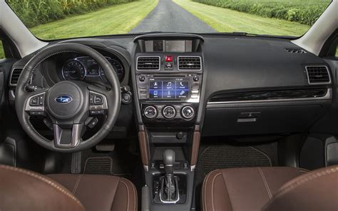 subaru forester touring interior comparison toyota rav4 xle 2018 vs subaru forester