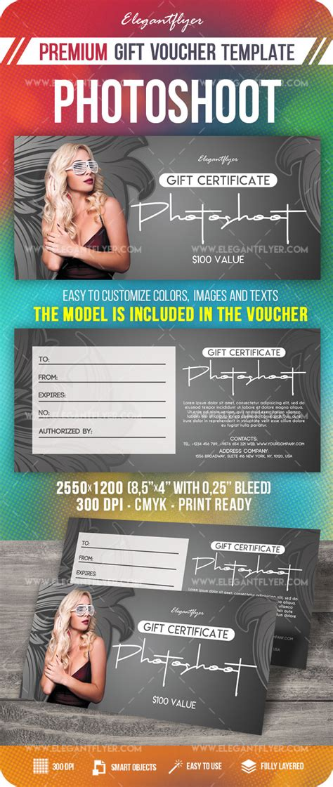 photoshoot gift certificate template photoshoot gift certificate template by elegantflyer