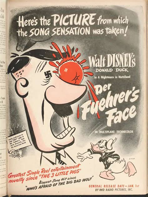 der fuehrer face 1943 full movie cartoons of 1943 der fuehrer s face ad 12 12 42