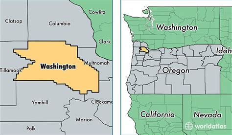 map of oregon and washington state washington county oregon map of washington county or