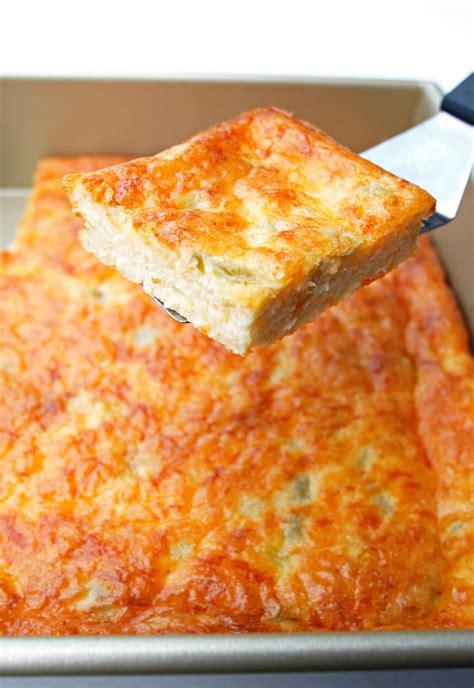chili cheese casserole cheesy green chile egg casserole
