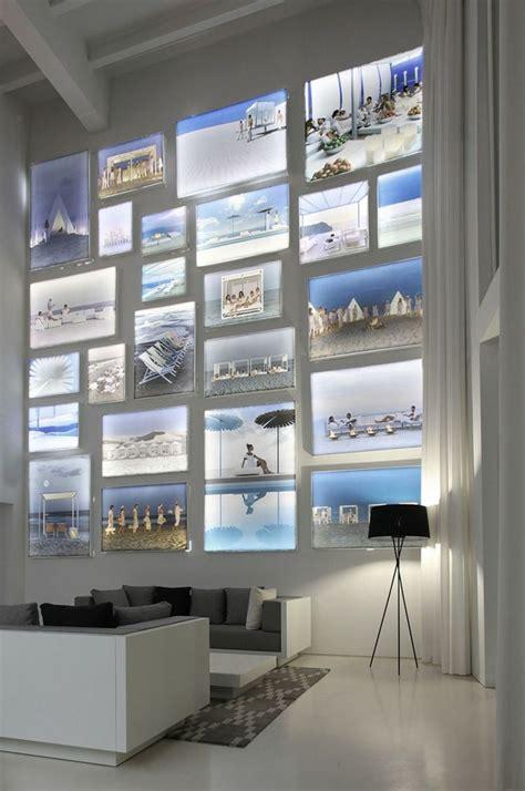 Wohnen Ideen 3729 by Idee F 252 R Die Wandgestaltung Im Wohnzimmer Beleuchtete