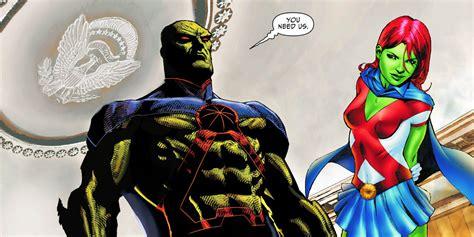 supergirl  martian helps martian manhunter face