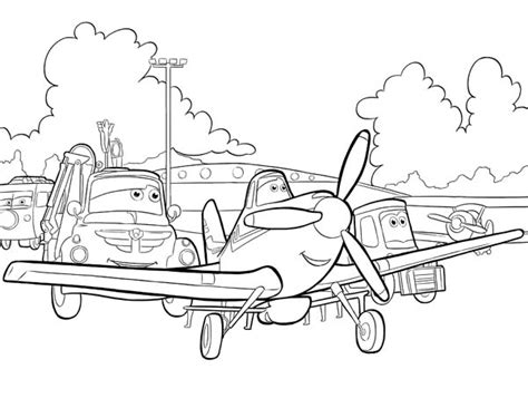 Disney Planes Own The Sky Coloring Activity Book dusty airplane coloring pages getcoloringpages