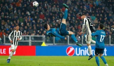 ronaldo juventus kick cristiano ronaldo s bicycle kick goal was impressive ivan rakitic