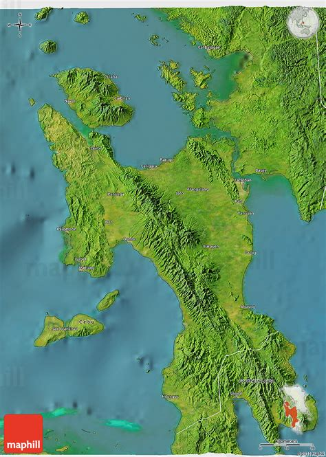 map philippines satellite satellite 3d map of leyte