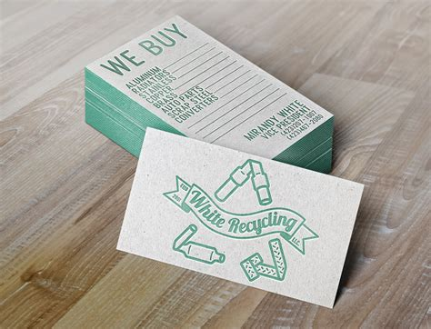 Recycling Cards - w for white recycling eclectrick ink