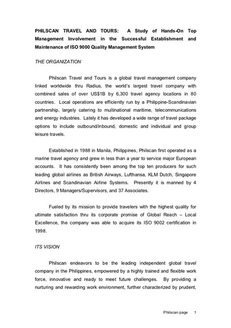 appointment letter dfa travel company iso9001 implementation
