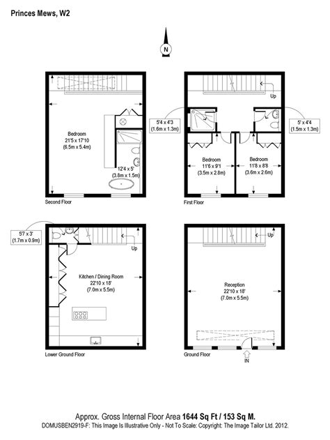 2 Bedroom 2 Bathroom House Plans Plan Small Mews House In Notting Hill