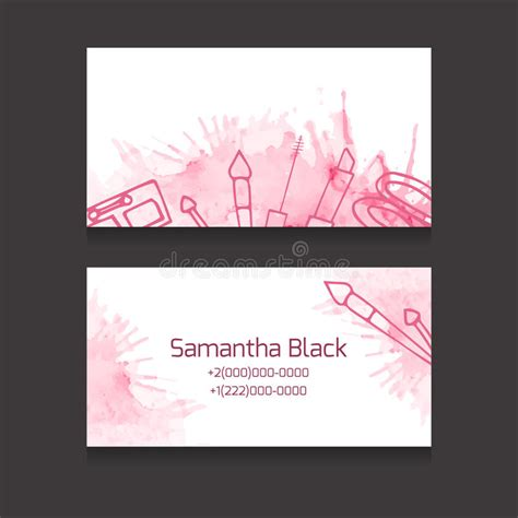 up and up business cards template makeup artist business card stock vector illustration of