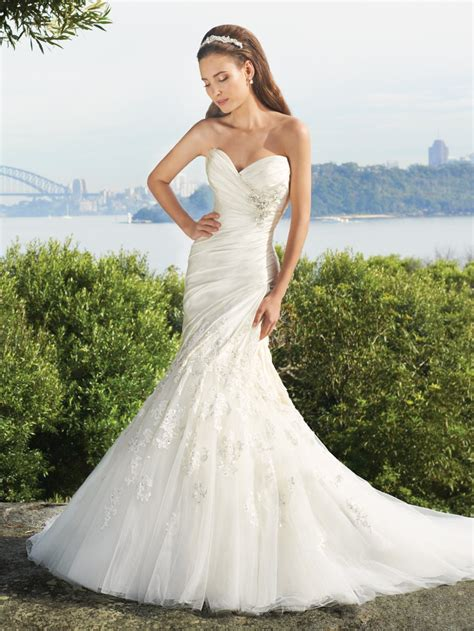 6 Gorgeous Strapless Wedding Gowns by Elegance Mermaid Gown With A Feminine Sweetheart Neckline