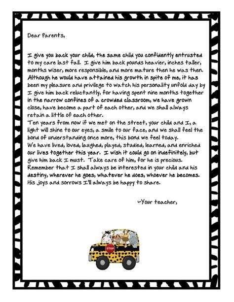 Parent Letter End Of The Year Letter To Parents What Parent Wouldn T To Get This From Their Child S