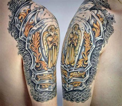 armor shoulder tattoo 53 amazing armor shoulder tattoos