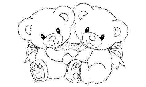 imagenes para colorear ositos dibujos de osos para colorear y pintar