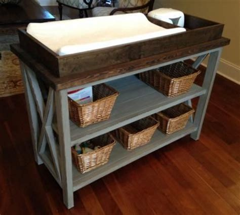 Rustic X Diy Changing Table I Would Love To Make It A Bookshelf Changing Table