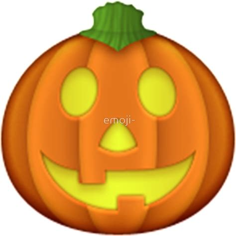 emoji halloween quot emoji halloween pumpkin quot stickers by emoji redbubble