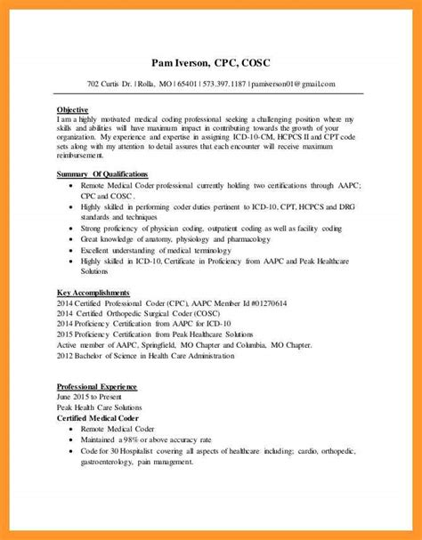 Resume Sample Teacher by Medical Coder Resume No Experience Sop Example