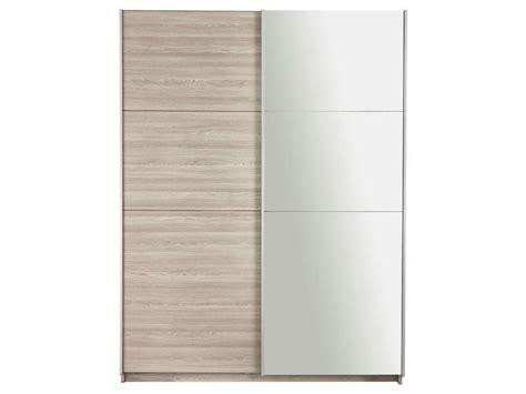 armoire penderie porte coulissante 3811 armoire 2 portes avec miroir fast 2 coloris ch 234 ne shannon
