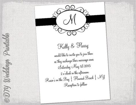 black and white wedding invitation templates wedding invitation template black and white quot hearts
