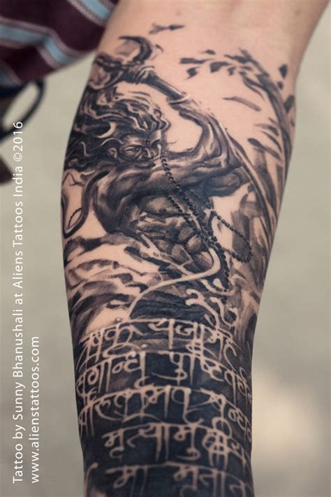 rage of lord shiva tattoo by sunny bhanushali at aliens