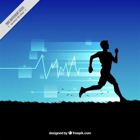 abstract background of running silhouette vector free