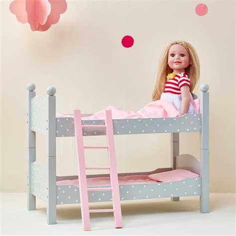18 in doll bunk bed 18 doll bunk bed grey polka dots princess free shipping