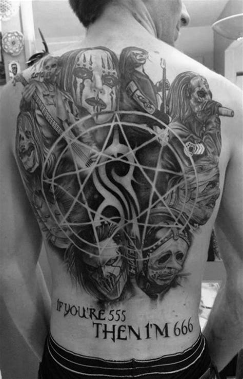 death metal tattoo designs 50 slipknot tattoos for heavy metal band design ideas