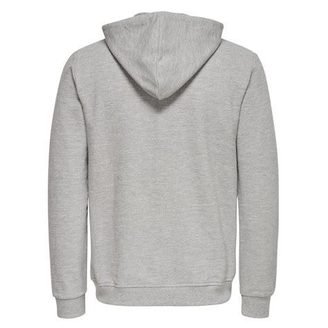 Sweater Hoodie Pria Zr1 M Zipper Hoodie Grey only sons finlo zip hoodie light grey melange 22005929 reem