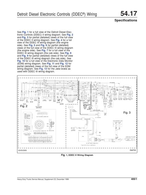 ddec ii and iii wiring diagrams diesel engine truck