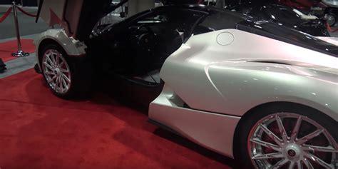 Wheels Custom Laferrari White laferrari gets with bling style white and chrome