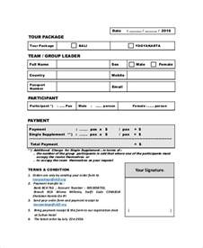 booking form template sle tour reservation form 6 documents in pdf word