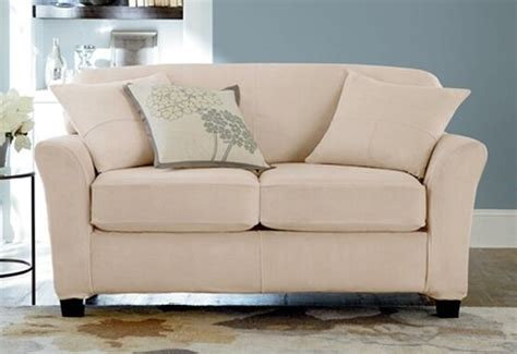 2 slipcovers for sofas ultimate heavyweight stretch suede loveseat 2 cushion slipcover surefit cement ebay