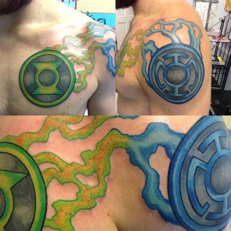 green lantern tattoos my best friends amazing green lantern and blue lantern