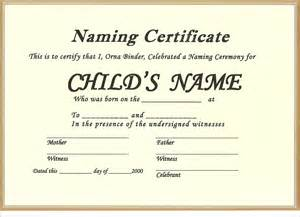 naming certificate template 10 free certificates for a naming ceremony