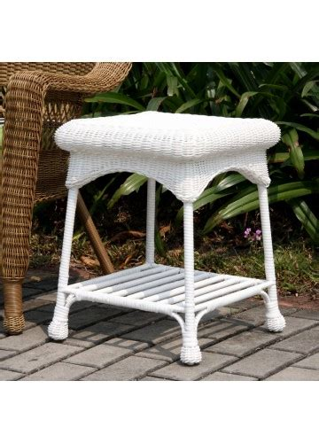 outdoor wicker end tables outdoor white resin wicker end table