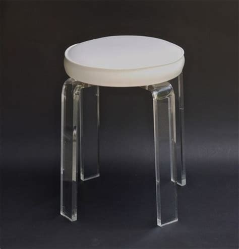 Acrylic Vanity Chair by Vintage Mid Century Modern Lucite Acrylic Vanity Stool Chair