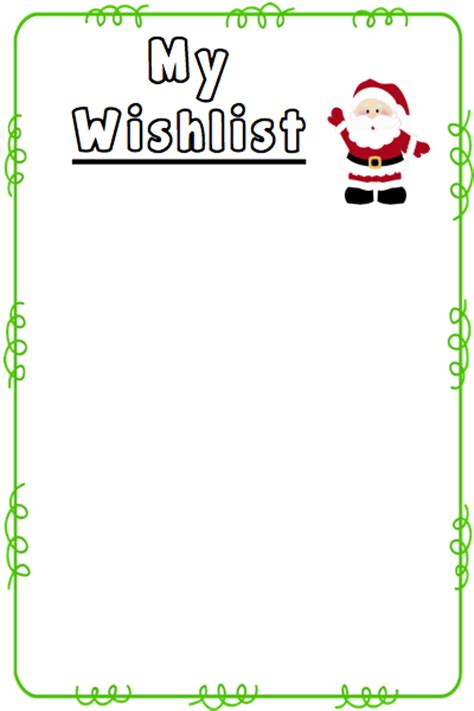 Wish List Template Free Printable by Wish List Template New Calendar Template Site