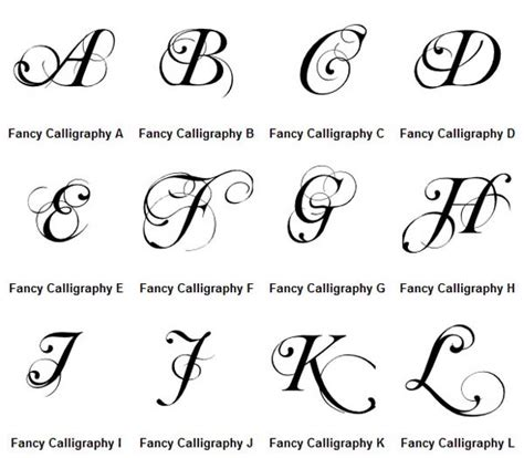caligraphy template beautiful letters graffiti letters a z fancy calligraphy