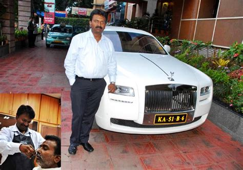 roll royce bangalore bangalore s billionaire barber owns rolls royce ghost 200