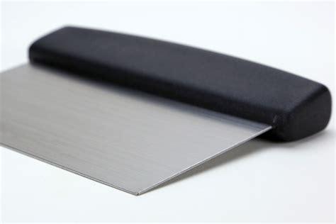 metal bench scraper stainless steel dough scraper bench knife breadtopia