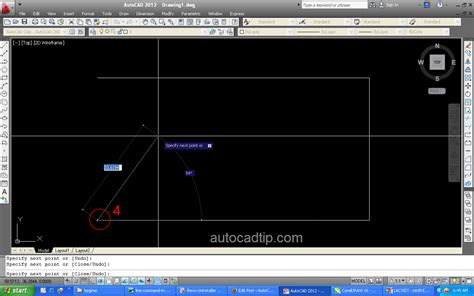 tutorial autocad commands how to use line command in autocad