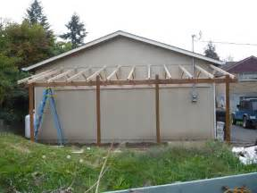 Lean To Carport Lean To Carport Build The Garage Journal Board Porch