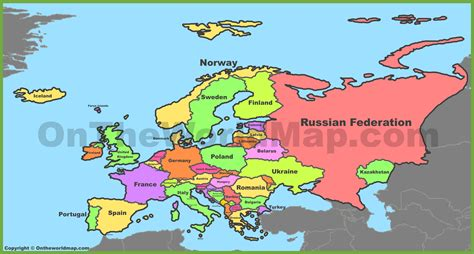 map of europe map europe maps maps of europe ontheworldmap
