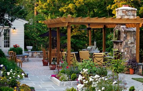 outdoor space creating an outdoor living space